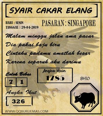Syair SINGAPORE,29-04-2019