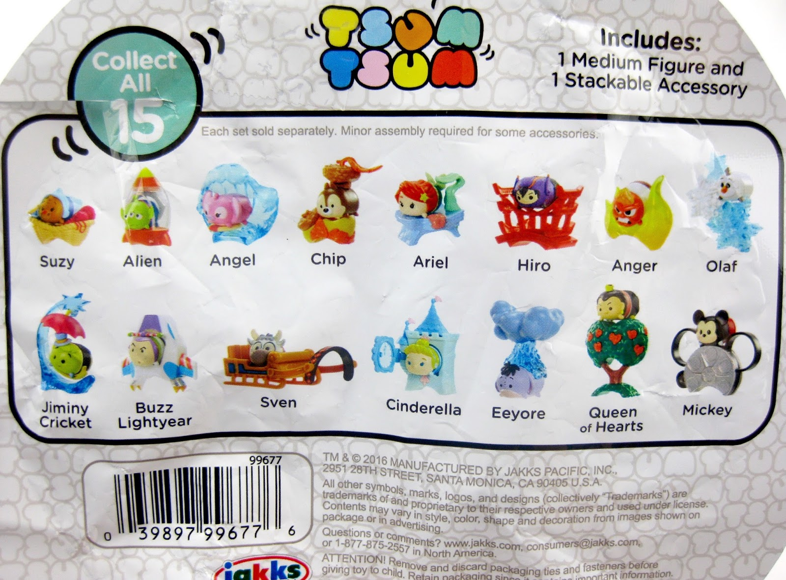 Disney Tsum Tsum Mystery Stack Packs by Jakks Pacific (Series 2)