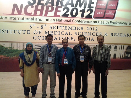 With Fellow Colleagues at SEARAME-NCHPE-2012, India