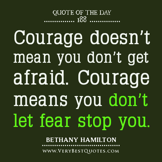 Bethany Hamilton Quotes: Crazy Everyday Blessings: Fear And Motivation