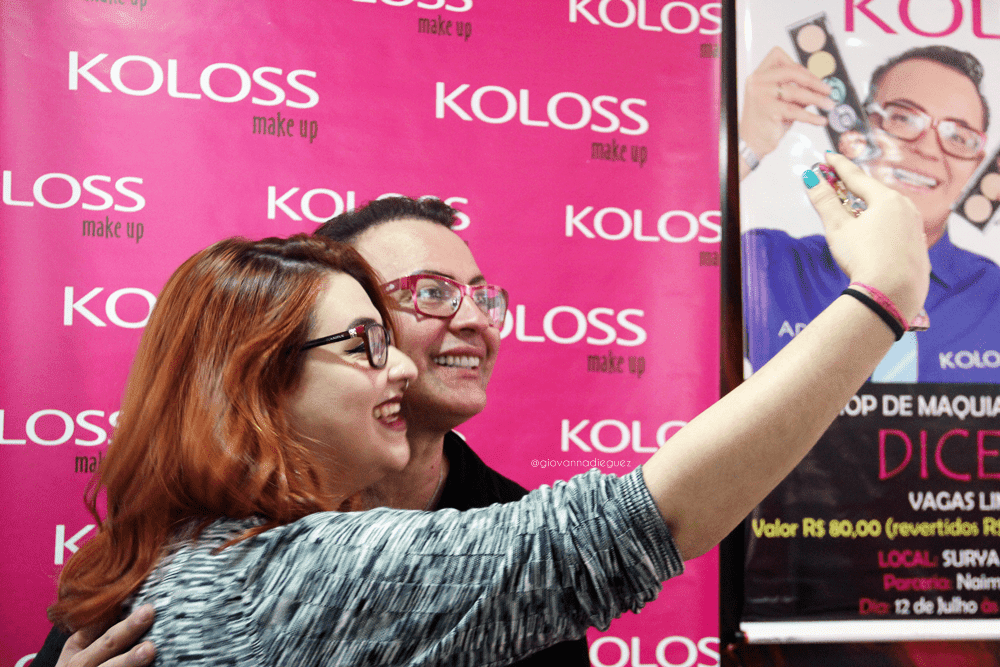 Workshop de maquiagem com Dicesar Koloss Makeup
