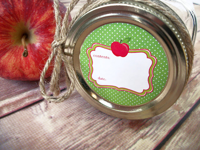 Cute Apple Mason Jar Labels
