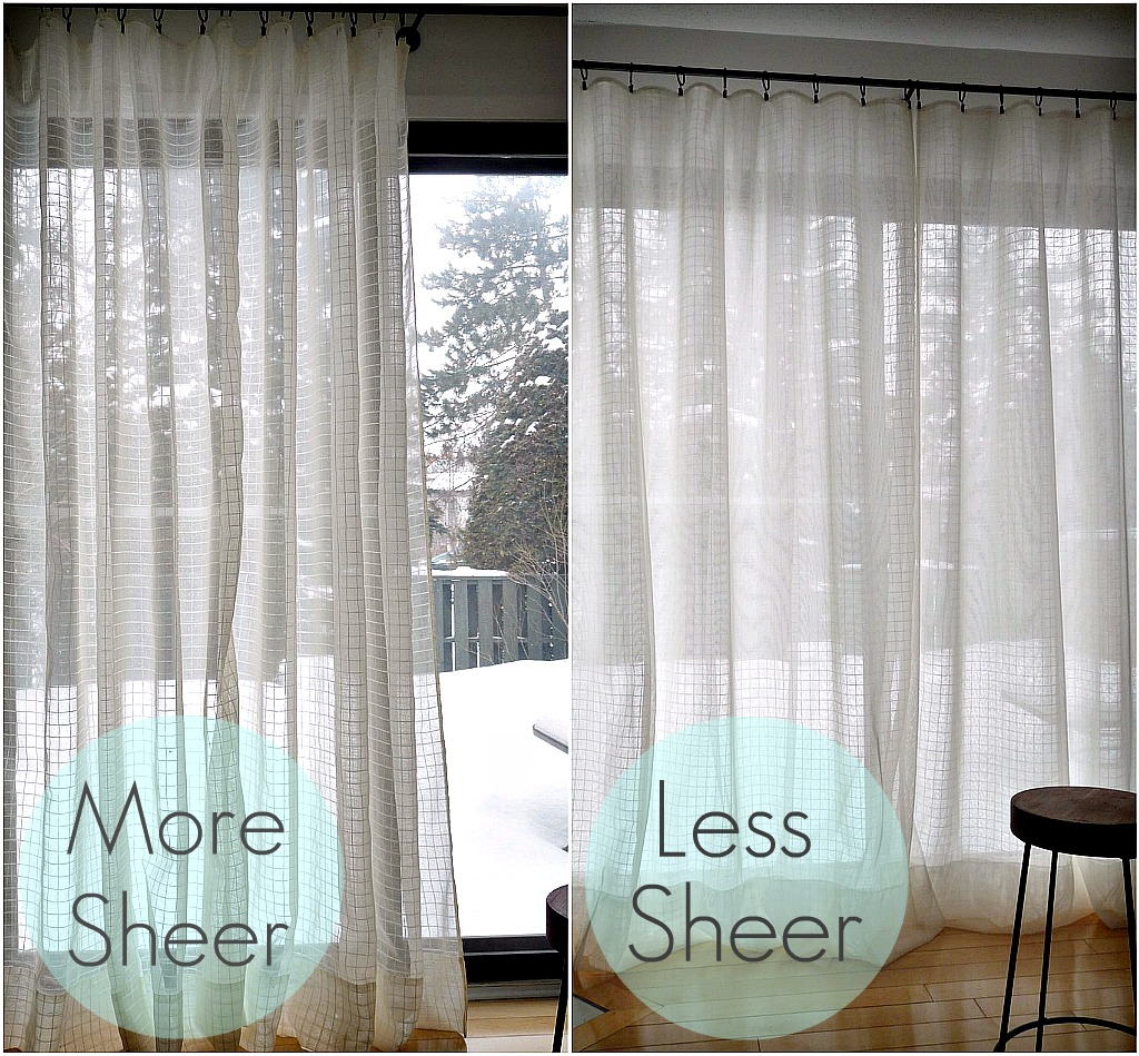 "DIY ""Sheer Sandwich"" Curtains Dans Le Lakehouse"