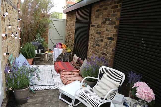Decorar un patio trasero de estilo bohemio
