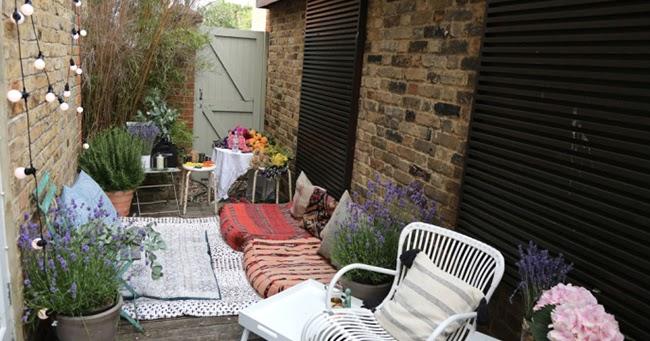 Decorar un patio trasero de estilo bohemio la garbatella - Como decorar mi patio ...