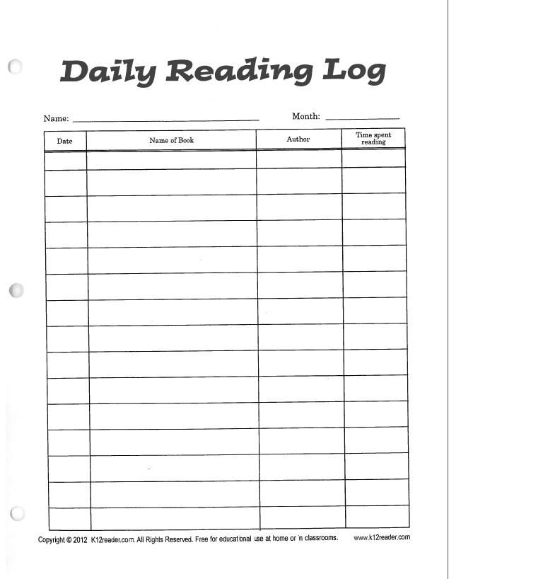 4th grade reading log template search results for reading logs for 5th grade calendar