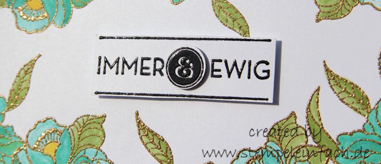 Karte zur Hochzeit, Immer und Ewig, stampin up