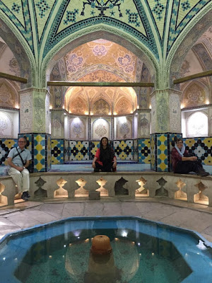 The Sultan Amir Ahmad Bathhouse in Kashan, Iran, is a 16th century public bathhouse built during the time of the Safavid era but was damaged in an earthquake in the 1770s and later renovated during the Qajar period.