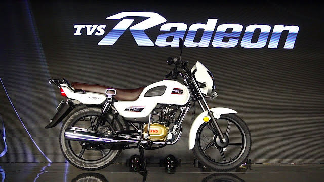 New TVS Radeon side view