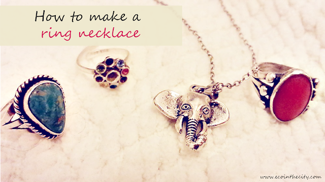 Personal tips on how to make a ring necklace