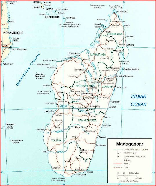 image: Madagascar political Map