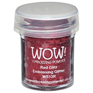 Red Glitz Embossing Glitter