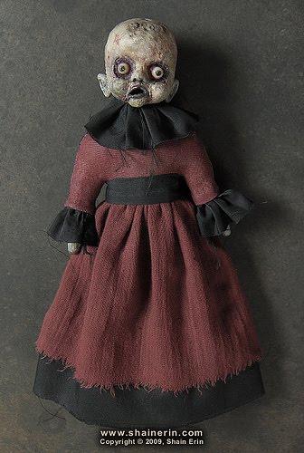 horrorosa,boneca,pano,caveira,preto,gotico,art,feia