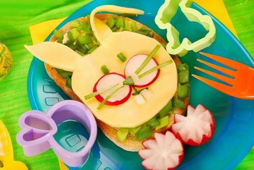 ide makanan lucu untuk anak susah makan ~ roti kelinci yang lucu