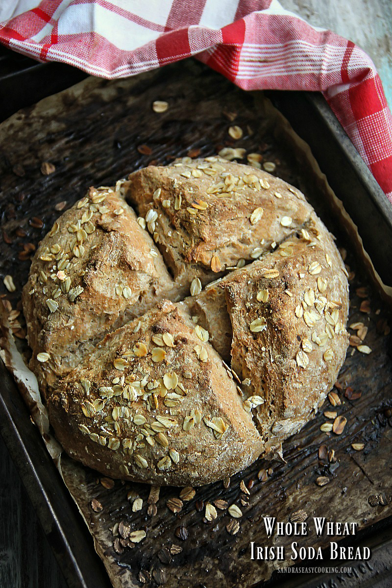 Whole Wheat Irish Soda Bread {Recipe}