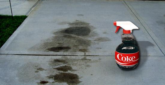 Truques de Limpeza com Coca-Cola - Tira manchas óleo