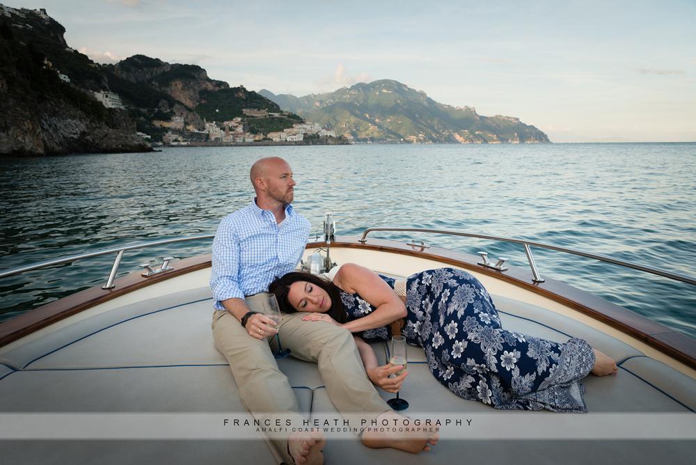 Sunset boat trip in Amalfi