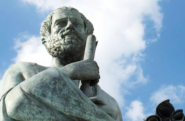 Aristotle sculptur