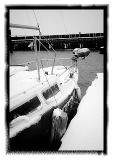 snow on sailboat