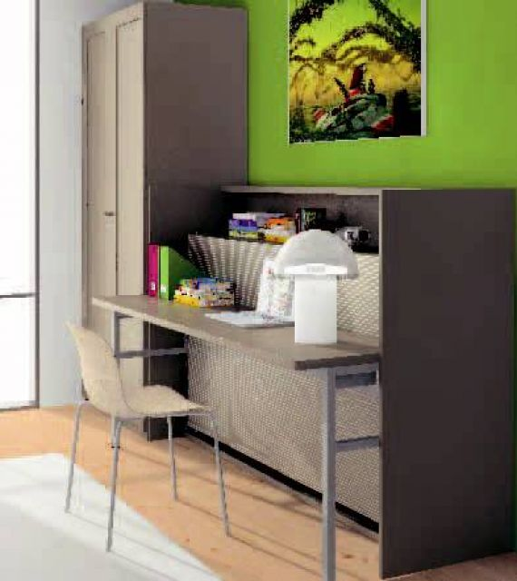 Mesa plegable estudio finest cm moderno de la pared de for Amazing camas abatibles