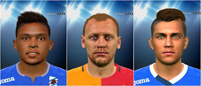 PES 2016 Kaya, Muriel and Paredes Face by Prince Hamiz