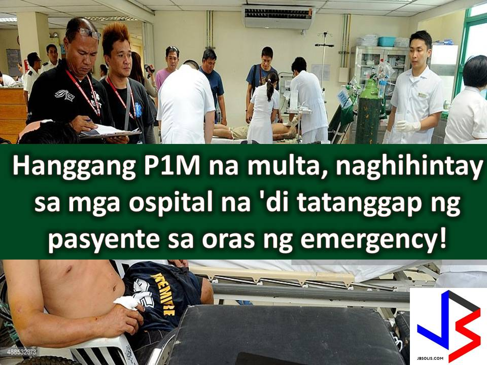 Many people said that if you don't have money and you need emergency assistance from hospitals, you will end up dead because there are many private hospitals in the country that demands an initial deposit before they cater patients even in a dangerous situation requiring immediate medical action.   Your other option is government hospital that is often overcrowded of patients.