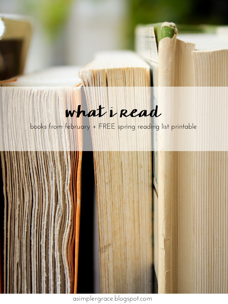 A look back at what I read last month + free printable #whatIread