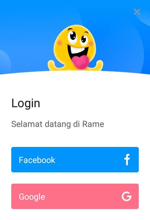 silahkan mendaftar / membuat akun dengan cara Login/Masuk menggunakan akun Facebook atau Google dan ikuti langkah selanjutnya.