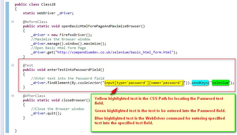 SeleniumTwo (QAFox com): 106  Using sendKeys( ) command for