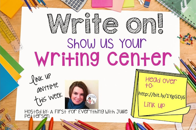 Link up to share photos of your classroom writing centers.