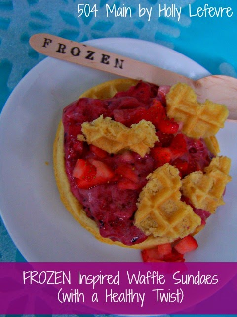 FROZEN Inspired Waffle Sundae (with a Healthy Twist) #FROZENFUN #shop #Cbias