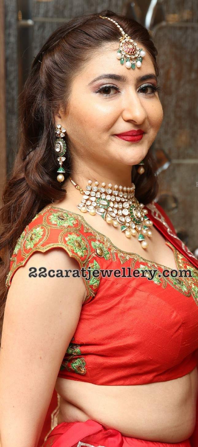 Harshada Patil Polki Emerald Choker