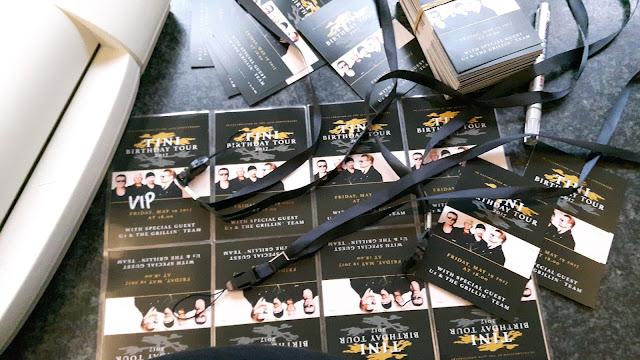 Einladungskarten Konzertkarten Mottoparty Rockstar U2