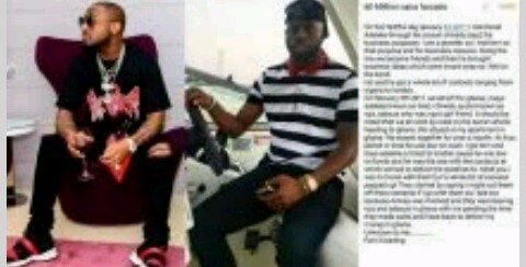 Man accuses Davido of threatening his life after defrauding him of N60m