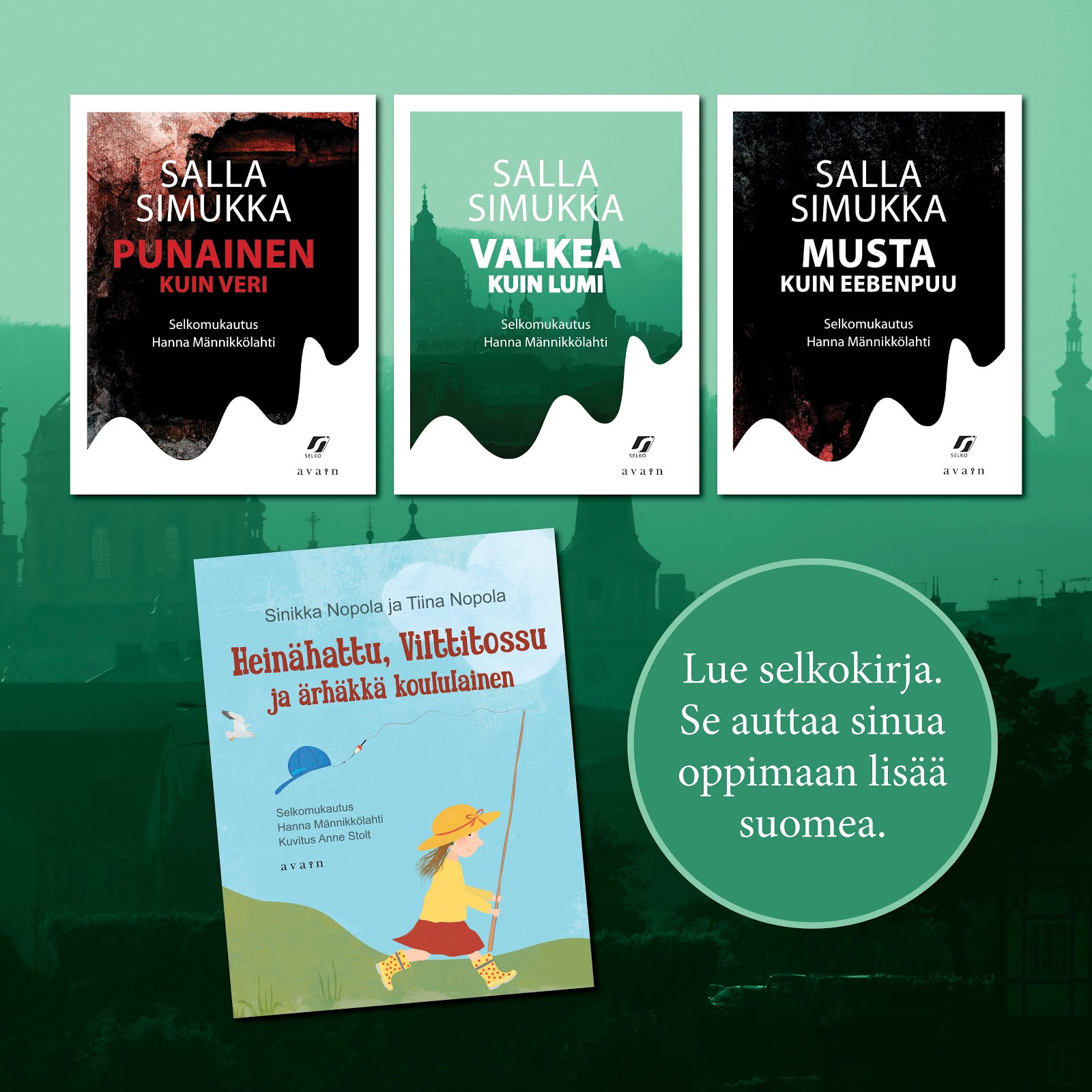 Novels that I have simplified into easy Finnish: