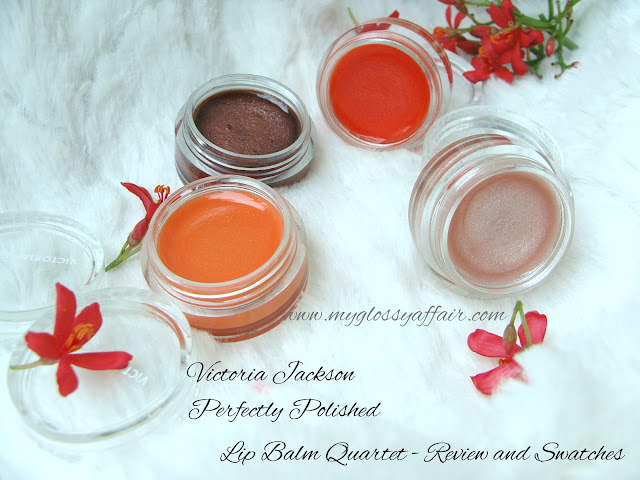 Victoria Jackson Perfectly Polished Lip Balm Quartet - Review & Swatches