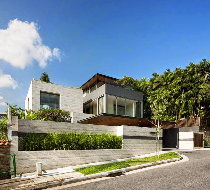 Modern House Exterior Design Modern Tropical House Design: Contemporary Tropical House By Wallflower Architecture