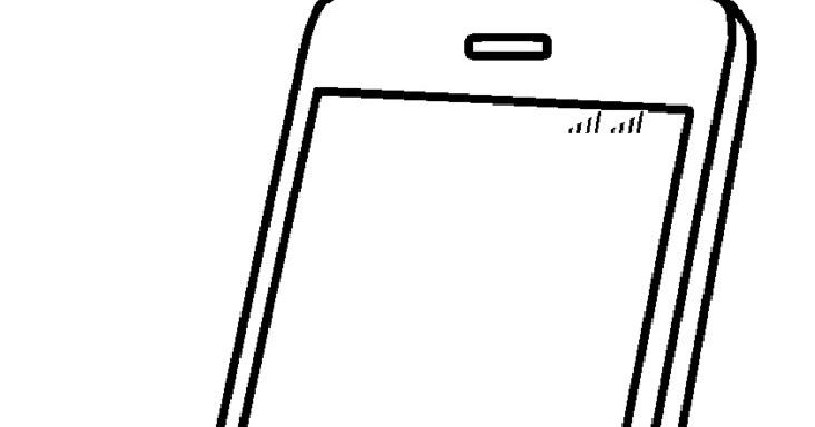 Mewarnai Gambar Mewarnai Gambar Sketsa Handphone 4