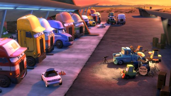 Top Down Truckstop - Mater And The Gas-Caps