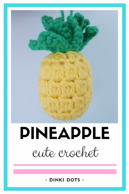 Click to see a very cute and easy crochet pineapple - what a tropical fruity touch!