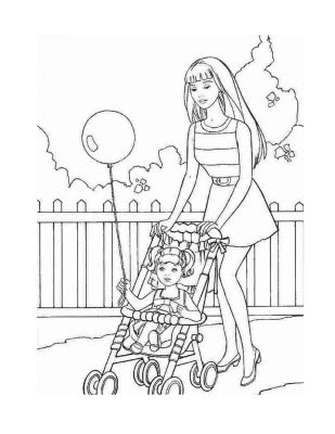 Mom And Son Coloring Pages