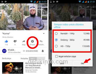 cara simpan youtube dan menonton tanpa internet