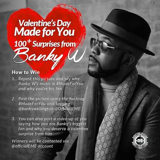 Ladies! Banky W Has A Valentine's Day Surprise For You