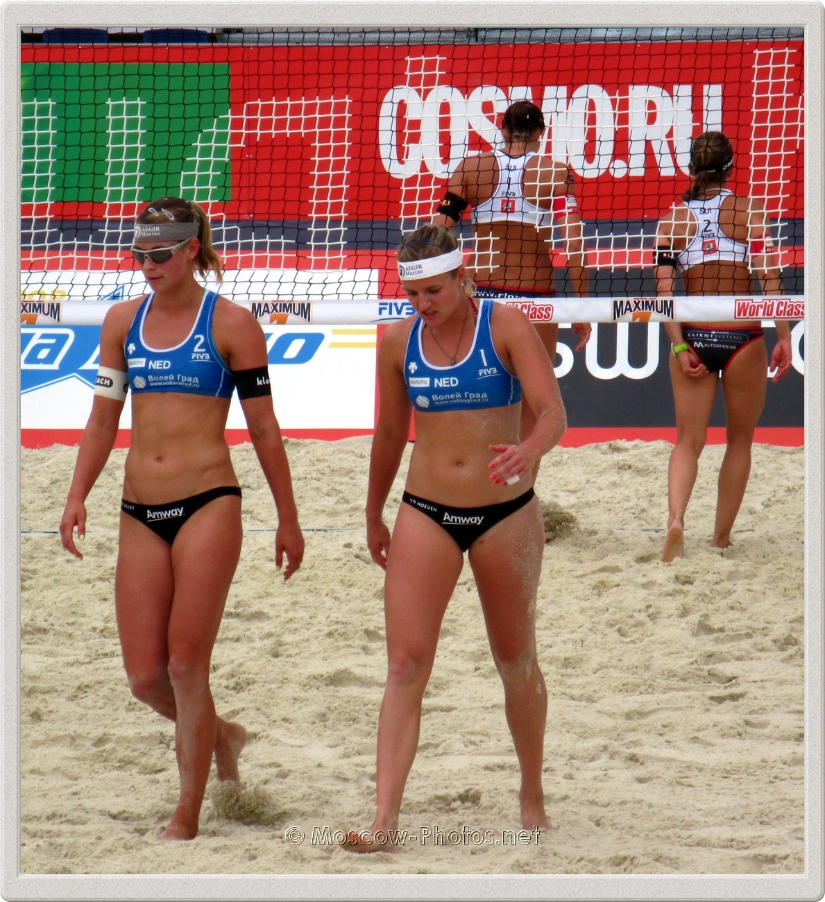 Dutch beach volleyball team in Moscow