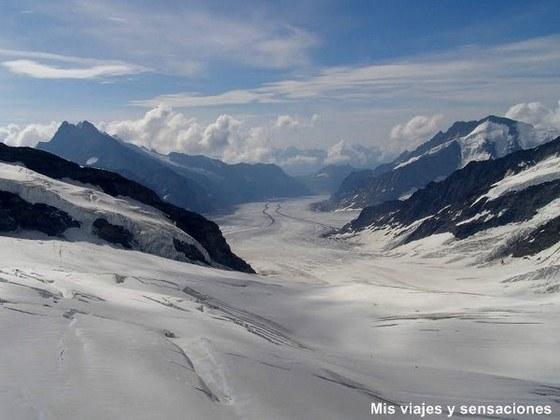 Glaciar Aletsch, Jungfrau, Suiza