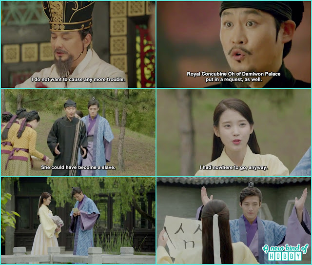 astronomer told king to send hae so to the royal concubine as a maid 8th prince also give hae soo the emoji language reply  - Moon Lovers Scarlet Heart Ryeo - Episode 6 Review