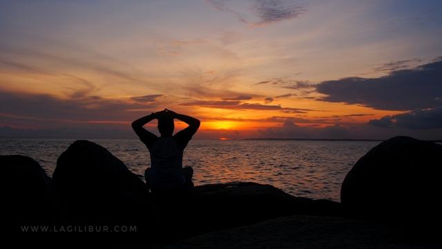 Sunset Pantai Batu Kapur Toboali Bangka Selatan