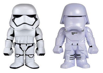 Star Wars The Force Awakens Hikari Sofubi Vinyl Figures by Funko - First Order Stormtrooper & First Order Snowtrooper