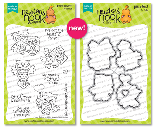 Love Owl-ways | Owl Stamp Set by Newton's Nook Designs #newtonsnook