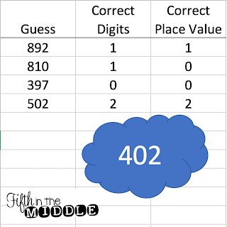 Guess My Number (Mastermind) is a fun way for students to use logic to fill 5-10 minutes!
